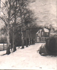Landscape: Littleworth Corner, The Driveway in the Snow 6673
