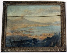Landscape: Outside Pompei, overlooking the Bay of Naples with Mount Vesuvius in the distance 9369