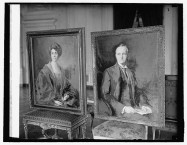 President Calvin Coolidge 4169 and Mrs Coolidge 4169 on display at the White House